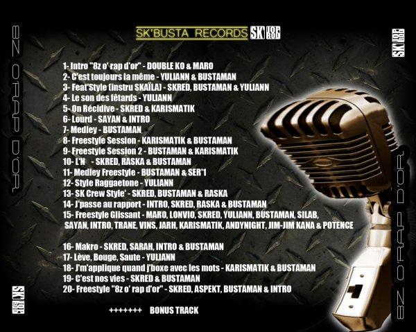 """Mix - Tape  """"8Z O' RAP D'OR""""   (2010 / 2011)  en téléchargement gratuit  :"""
