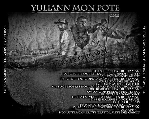 """Album  """"VERS LE CAP' ORAL""""  de  YULIANN MON POTE en Téléchargement Gratuit :"""