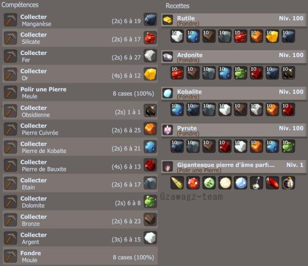 Mineur niveau 100 plus en détail
