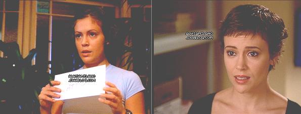 .  NO DATE - Alyssa dans le rôle de Phoebe dans CHARMED.  Tu l'aime bien dans la série ?  .