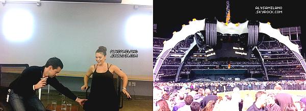 .  07.06.11 - Alyssa était hier chez Square et ensuite au concert de U2. Elle a ensuite postée quelques photo sur Twitter : .
