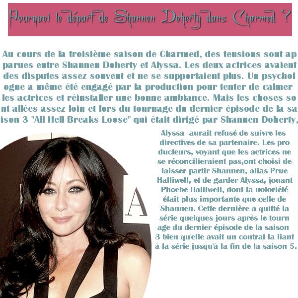 .  NO DATE   - Charmed ; Après le départ de Shannen Doherty (Prue) ..  .