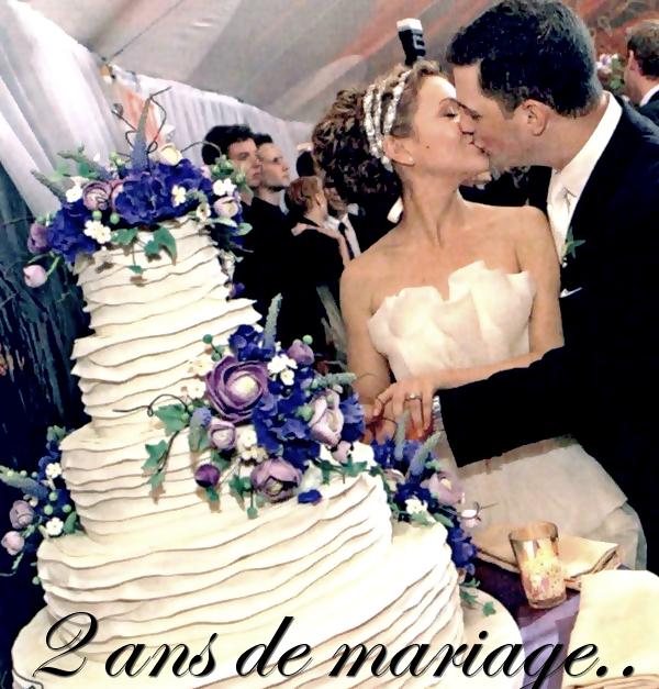 .  Aujourd'hui (15/08/11) Alyssa et David fête leurs 2 ans de mariage ! Félicitation !  .