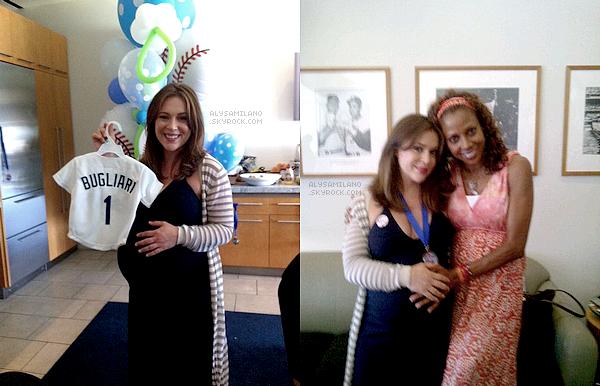 . 14.08.11-  Alyssa a fêté sa baby shower , en compagnie de pas mal de monde.Elle a poster un message sur Twitter :  .