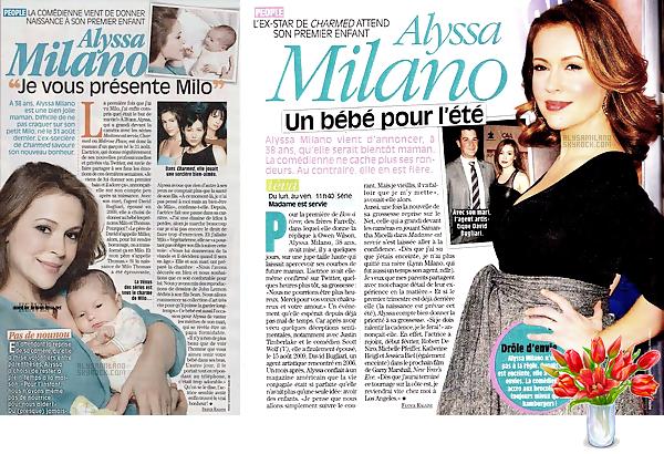 . Alyssa et Milo sont encore actuellement à l'honneur dans quelques magazines,voici ci-dessous les scans de TéléStar.  .