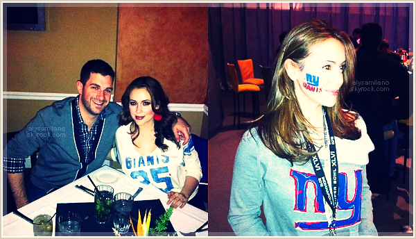 . Alyssa s'est rendue le 05 février au Superbowl et a posté quelques photos sur son twitter.  .
