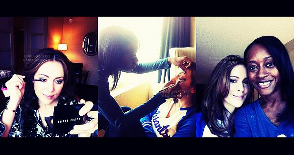. Voici les photos d'Alyssa lors de sa scéance de maquillage réalisée pour sa dernière sortie.(voir l'article de la sortie) .