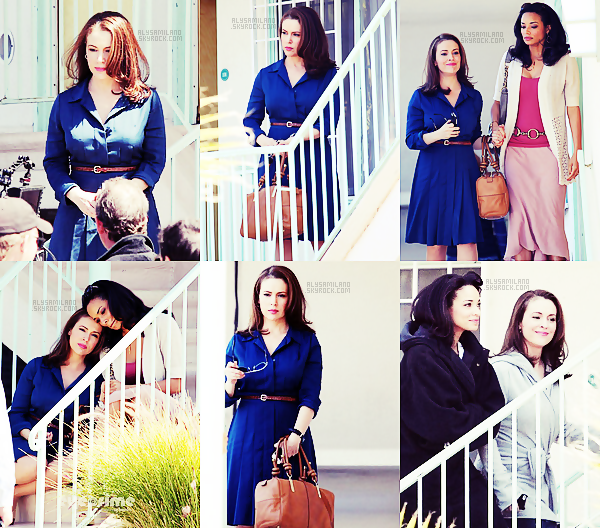 .  27.03.12 - Alyssa, toujours sur le set de sa nouvelle série : Mistresses avec sa co-star (Rochelle Aytes). .
