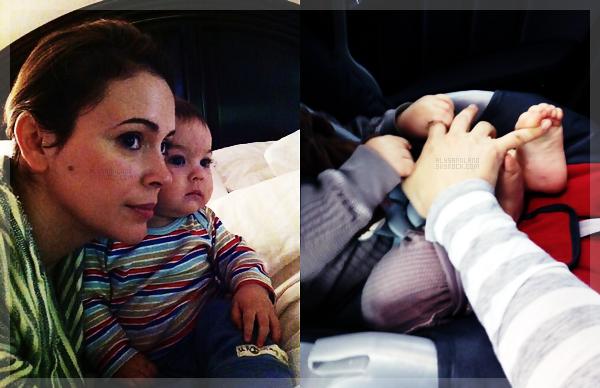 .  Je vous laisse découvrir les deux dernières photos postée par Alyssa sur twitter : juste adoooorable ! ♥ .