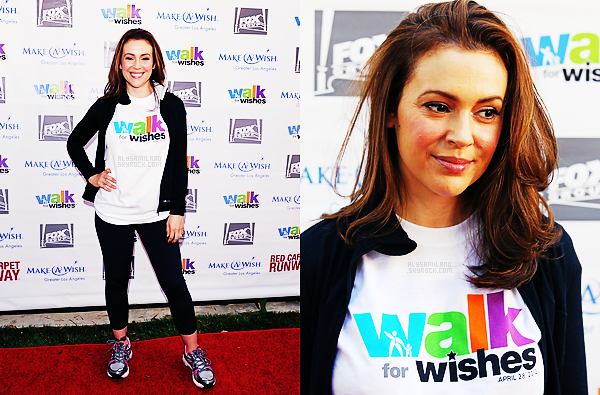 .  28.04.12 - Alyssa été présente au Walk for Wishes, organisé par l'association Make a Wish. .