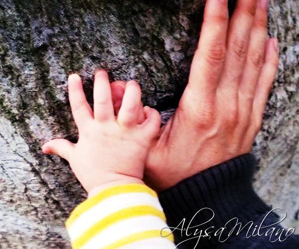 .  Alyssa a mis une nouvelle photo et avatar sur son twitter : sa main et celle de Milo ! ♥ .