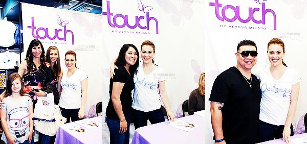 .  05.05.12 - Alyssa été à Culver City, pour sa ligne Touch et de rencontrer ses fans et leur signer des autographes. .