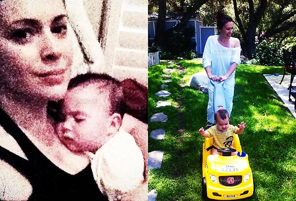 .  Voila les deux dernières photos d'Alyssa avec Milo, qu'elle a postée sur Twitter :  .