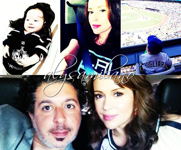 .  __04.06.12__  ▬ Alyssa s'est rendue (encore) a un match des LA Kings, toujours avec David. .
