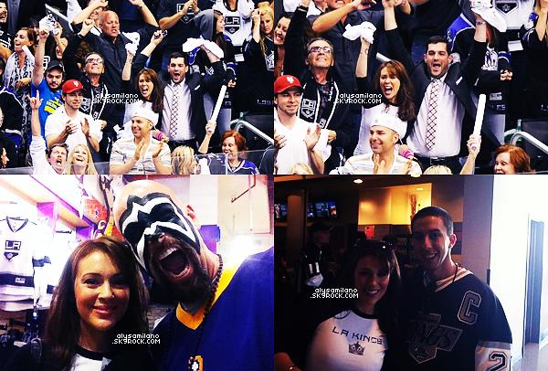 .  __11.06.12__  ▬ Alyssa s'est rendue à un match des LA Kings , et aussi d'autres photos (le même jour). .