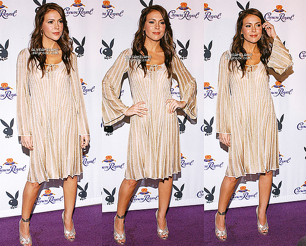 . 09.07.07 ▬ Alyssa était a une soirée intitulé « Crown Royal Baseball Lounge » à San Francisco..