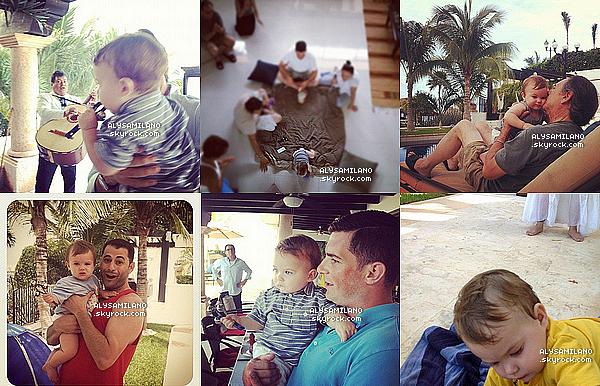 . Juillet 2012 ▬ Alyssa et ses proches ont postés des photos pendant leur séjour à Cancun, au Mexique : .
