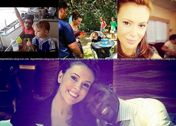 .  Août 2012 ▬  Je vous propose de voir toutes les photos que Alyssa a postée sur  Twitter en Août :.