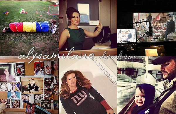 .  Oct. 2012 ▬  Je vous propose de voir toutes les photos du mois d'Octobre postée par Alyssa sur twitter :  .