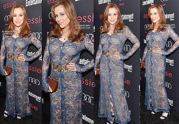 .  26.01.13 - Alyssa était à la soirée EW Pre SAG Awards. Non mais c'est quoi cette tenue de mémé Alyssa ? C'est vraiment un gros FLOP !