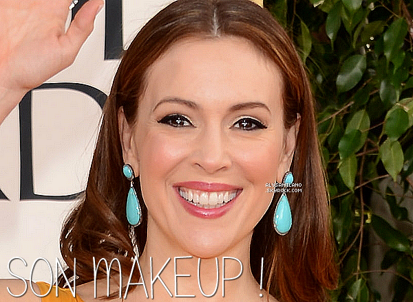 .  13.01.13 - Alyssa était présente aux Golden Globes ainsi qu'à l'after party. Elle était ravissante ! Même si y'a mieux comme robe à mon gout..Sinon son makeup est parfait. Bref, BOF !