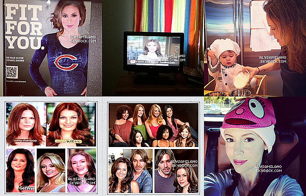 .  Voici les photos postées par Alyssa dans les mois de Novembre et Decembre 2012.