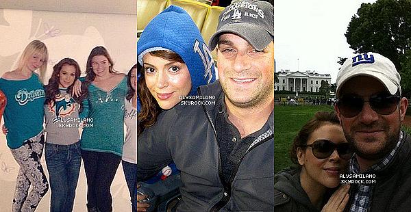 .  Voici les photos postées par Alyssa dans le mois de Janvier 2013, sur Twitter.Il y a de très belle photos, notamment quelques de Milo et de Alyssa et David..Encore une fois j'aime ! :)