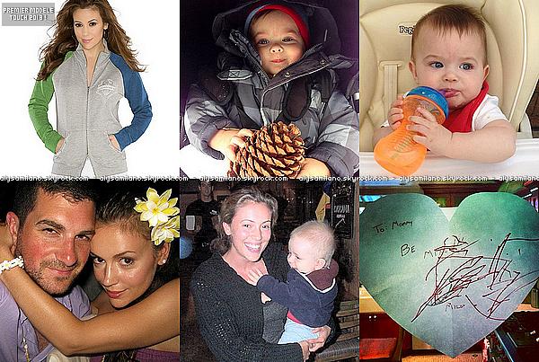 . Février 2013 : Alyssa a postée de nouvelles photos sur Twitter, pour ne pas changer.+ le premier modèle touch de 2013 est en ligne! Sinon Milo est toujours aussi chou et la 4ème photo est trop belle. ♥