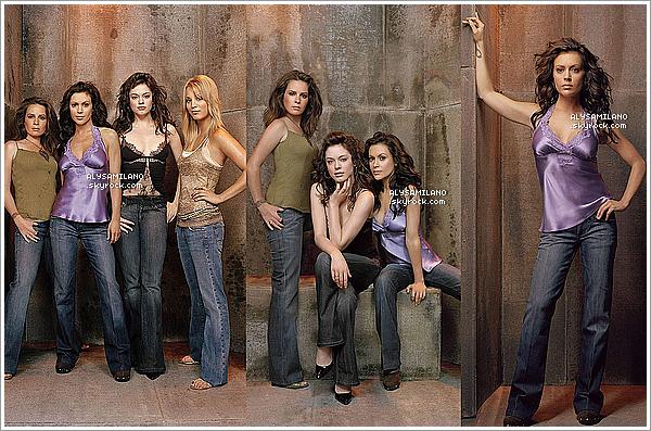 . Je vous propose de (re)voir un photoshoot de Charmed pour la saison 8 (2006).Personnellement j'adore ce shoot ! Elles sont magnifiques. J'aime beaucoup Alyssa dans la robe bleu. Un beau TOP!