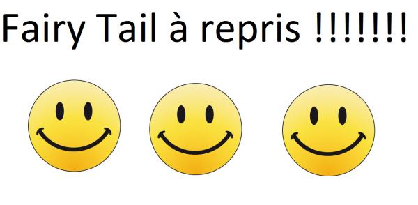 Fairy Tail à repris :) :) :) :) :) :) :)