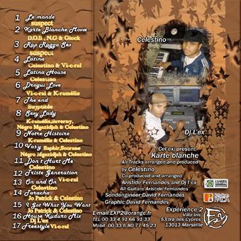 """Pochette arrière du """"Karte Blanche Vol.5"""" paru en 2007 avec la participation du Groupe Suspect sur 3 morceaux"""