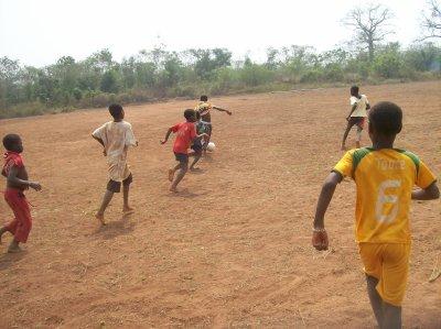 Match de foot à Gati Soun Togo janvier 2012