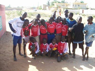 Match de foot au centre d'accueil et nouvelles de El hadj Sénégal février 2012