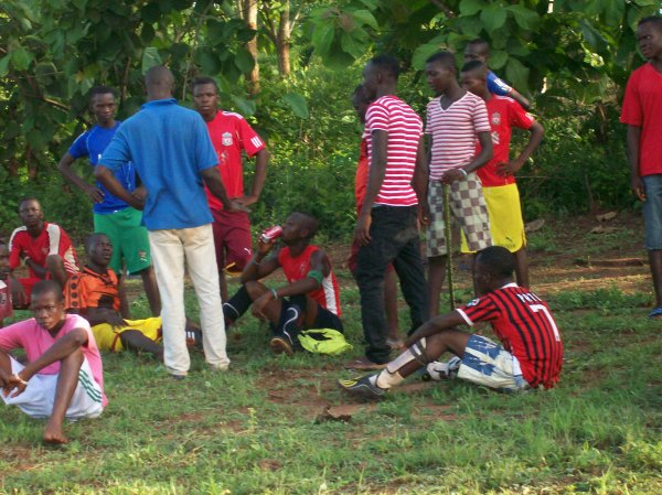 Match de foot et prévention VIH Sida Togo mai 2012