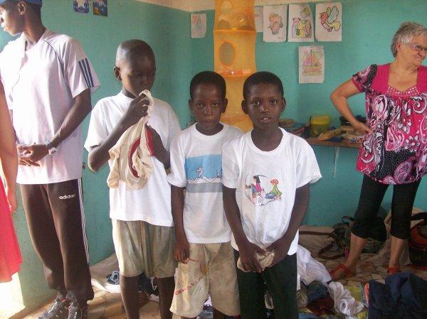 Petit déjeuné au centre d'accueil Sénégal novembre 2012