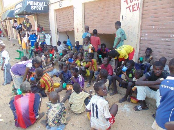 Au centre d'accueil des enfants des rues à Saly Sénégal octobre 2014