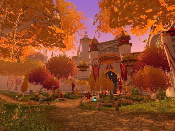 Bois des Chants éternels dont La capitale Lune-d'argent est le plus beau fleuron du peuple elfe de sang.