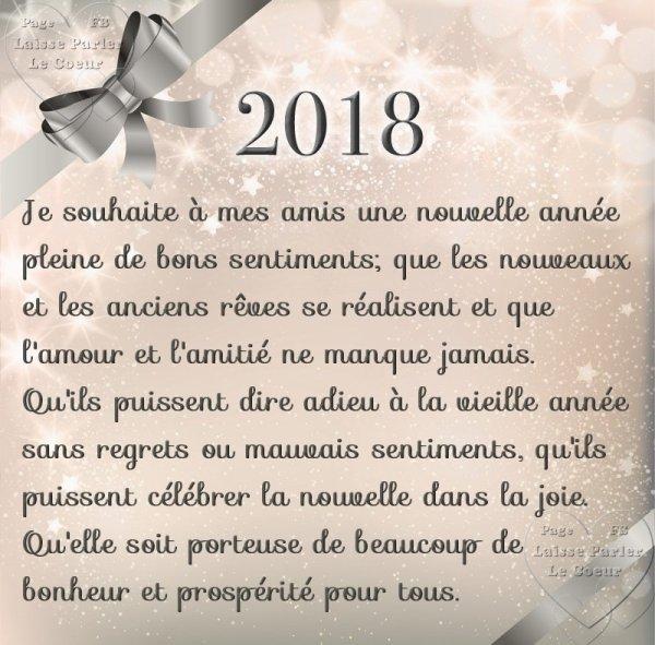 Bonne Année a toutes es amies et amis