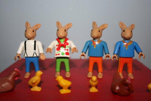 Les lapins de Pâques.