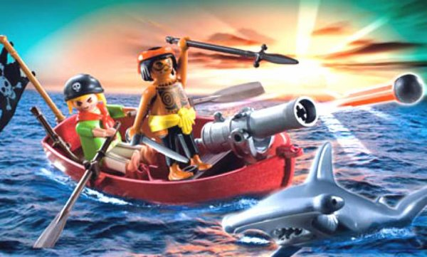 Barque de pirates et requin marteau (Playmobil Ref : 5137)
