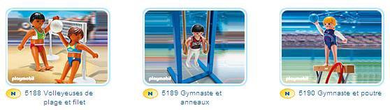 Playmobil Atlhètes. Nouveauté 2012.