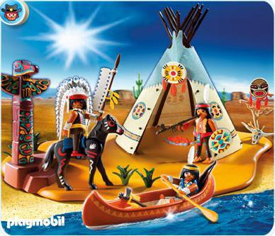 Playmobil superset campement des Indiens. Ref 4012