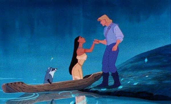 Pocahontas et John smith en Playmobil