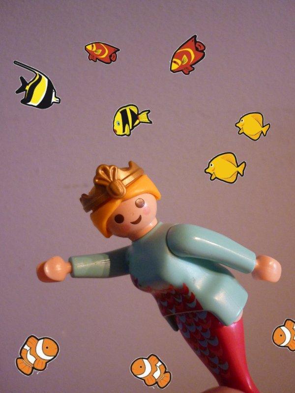 Playmobil 4557 sirène et poissons. (année 1998)