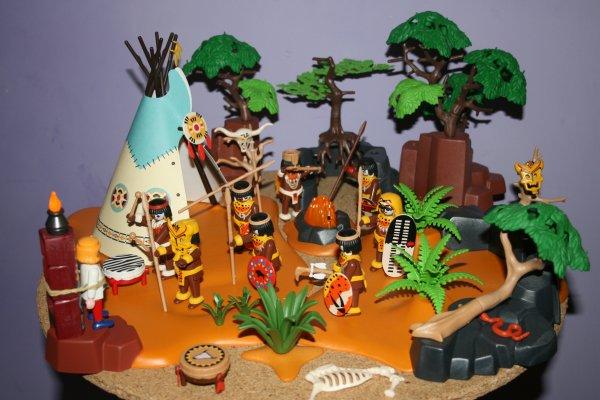 Campement d'indigènes.