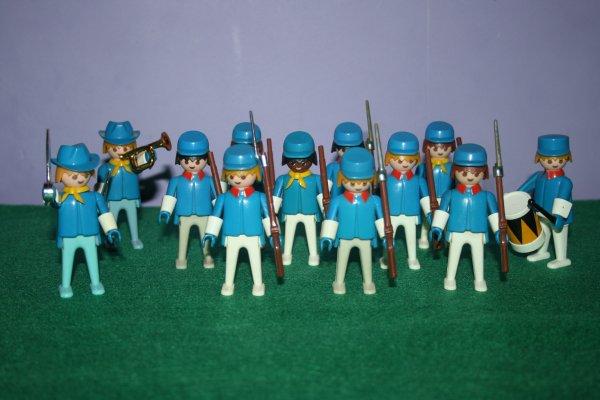 Playmobil VINTAGE. Guerre de Secession, les Nordistes.