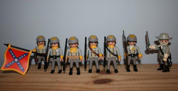 Infanterie et cavalerie Sudistes. En avant marche !