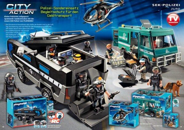 Nouveautés 2014 Playmobil Police unité spéciale