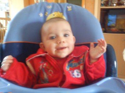 mon petit neveux nolhan le plus souriant des bébés