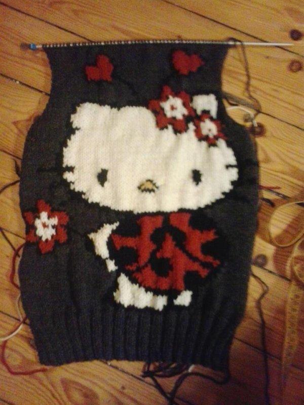 et voici une de mes grilles tricotée